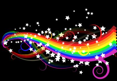 векторный фон радуга