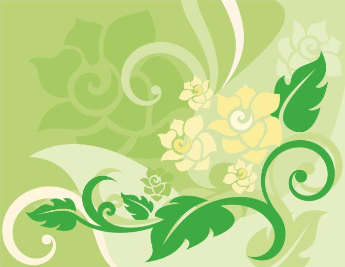 светлый зеленый цветочный фон