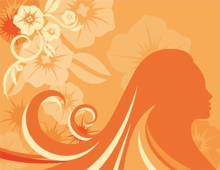 оранжевый фон узор