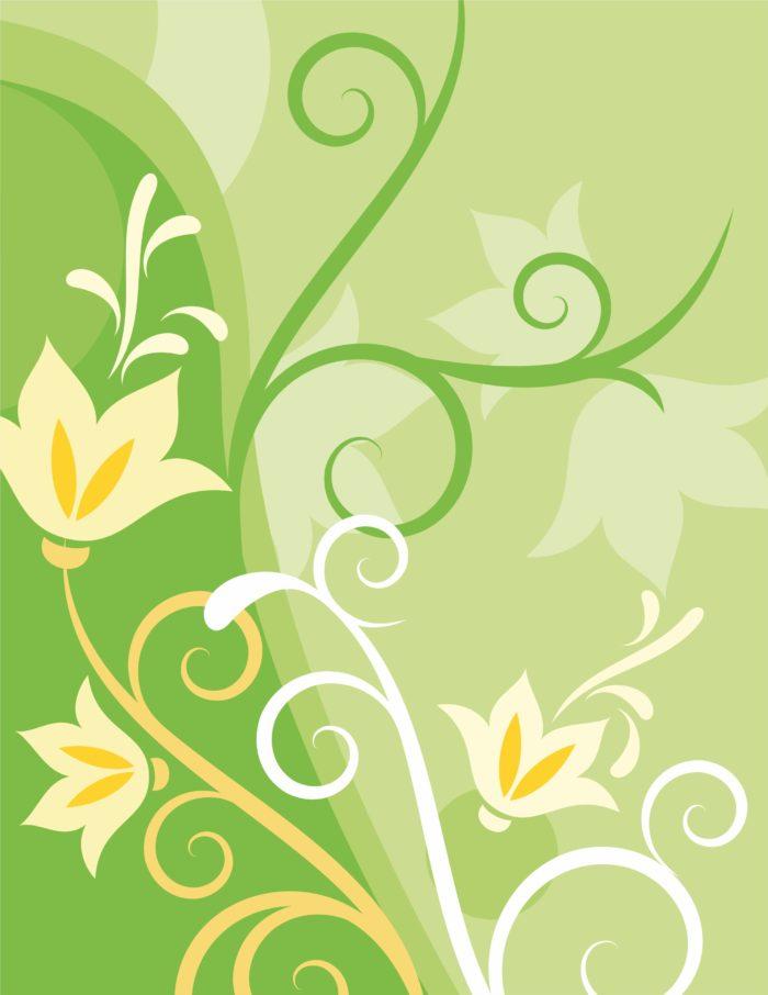 цветы на зеленом фоне