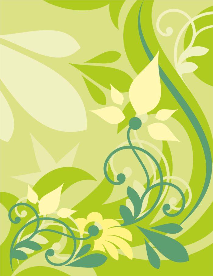 зеленый цветок вектор