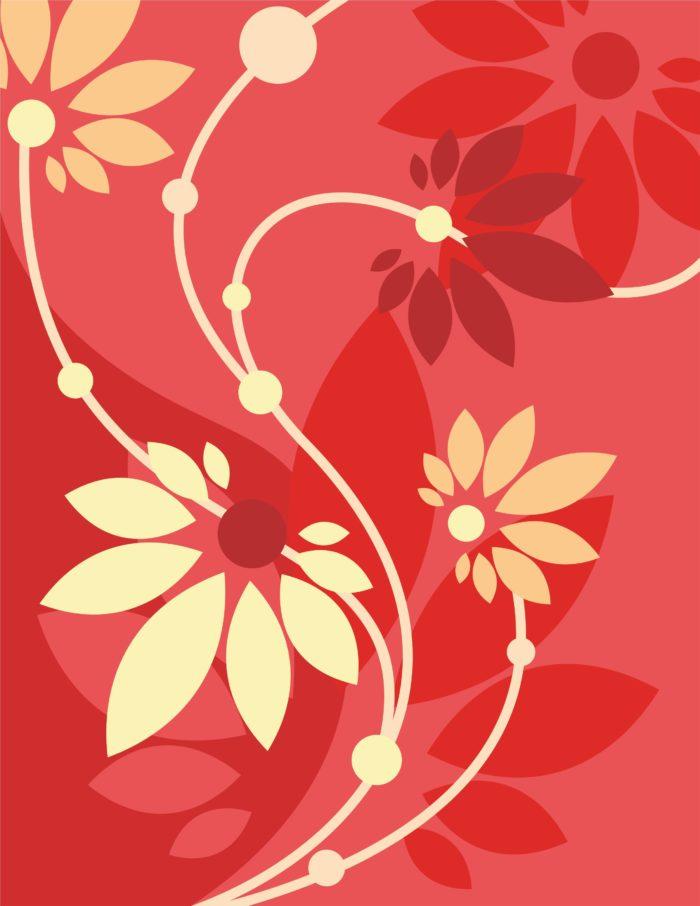 малиновый красный фон цветок