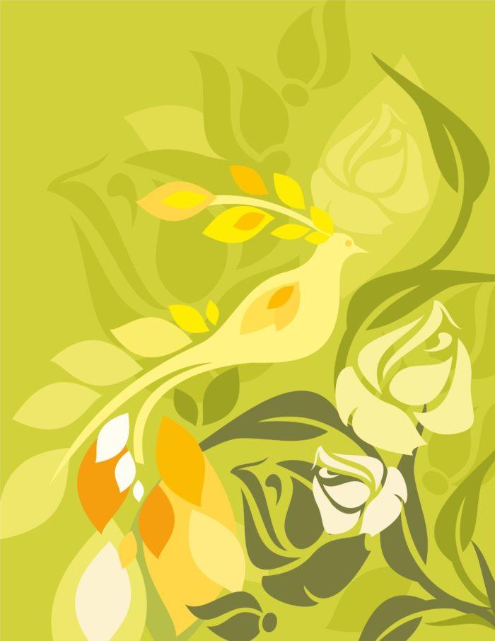 светло зеленый цветочный фон