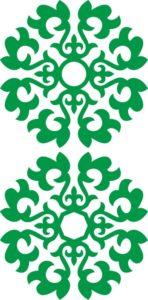 казахский орнамент снежинка