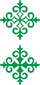 казахский орнамент ромб 2