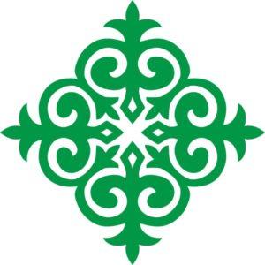 казахский орнамент ромб 3