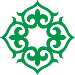 Казахские узоры круглый 3 казахский орнамент