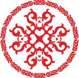 казахский орнамент круг