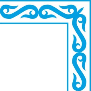 Казахские узоры рамка восточный стиль казахский орнамент