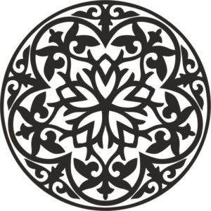 Казахские узоры круглый 5 казахский орнамент