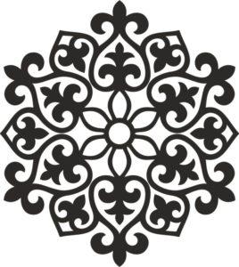 казахский орнамент снежинка 3